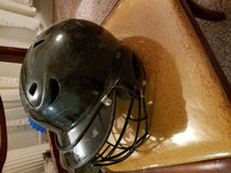 Baseball helmet in Fort Riley, Kansas