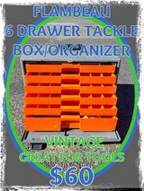 Flambeau 6-Drawer Heavy-Duty Tackle Box/Toolbox (Vintage) in Fort Lewis, Washington