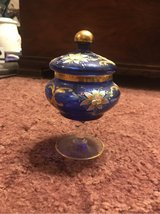 Chechen candy dish hand painted in Fort Leonard Wood, Missouri