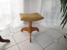 old stool with sold wood base in Ramstein, Germany