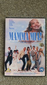 DVD - Mamma Mia - Meryl Streep, Amanda Seyfried, Pierce Brosnan - Region 2 DVD in Lakenheath, UK