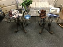 Glass and metal end tables in Bartlett, Illinois