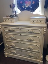 Vintage shabby chic walnut dresser in Schaumburg, Illinois