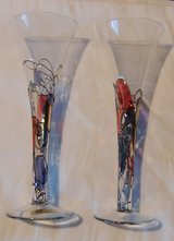 2 Sparkling Wine Glasses - K&K Tiffany Style in Grafenwoehr, GE