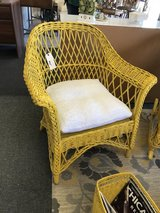 Yellow Vintage Wicker Chair in Naperville, Illinois