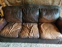 Used leather couch in Kingwood, Texas