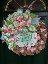 Home Sweet Home Burlap Wreath in Naperville, Illinois