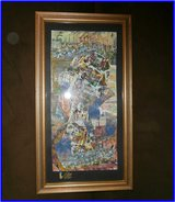 "Original Collage ""Harbour"" 27x14"",framed in Ramstein, Germany"