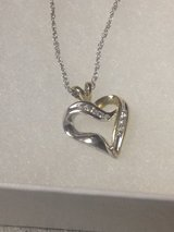 Diamond heart two tone necklace in Vacaville, California