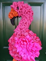 Flamingo Burlap Wreath in Naperville, Illinois