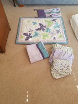 Purple butterfly crib bedding set in Aurora, Illinois