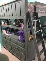 Loft Bed - Full size with Dresser in Kingwood, Texas