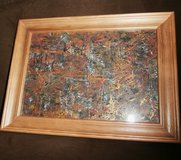 "Original Abstract ""Structure"" ,framed in Ramstein, Germany"