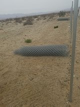 Chainlink Fence in 29 Palms, California