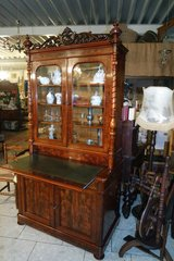 elegant Biedermeier style secretary desk with mahagony veneer in Ansbach, Germany