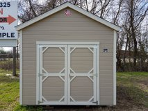 10x12 Utility Shed With LP Smartside Lap Siding in Huntsville, Texas