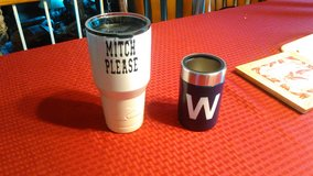 powder coated tumblers and koozie in Chicago, Illinois