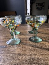 Pier 1 and Crate & Barrel margarita glasses in Fort Campbell, Kentucky