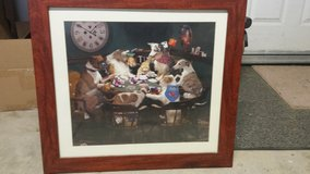 Poker Dogs framed picture in Yucca Valley, California