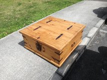solid wooden storage box in Okinawa, Japan