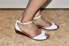 White Summer Sandals/ Shoes. Size 9. in Okinawa, Japan