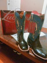 """"" LUCCHESE CAIMAN BELLY BOOTS"""""" NEW!!!! SIZES 8.5 D THROUGH 11 D in Converse, Texas"