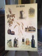 cool collectible vintage beer board from France destilliert Paris man s place in Ramstein, Germany