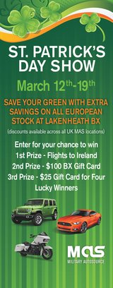 Want to SAVE GREEN during U.K St Patrick's Day Sale? in Tunbridge Wells, UK