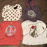 Girls size 2T long sleeve four shirts in Warner Robins, Georgia