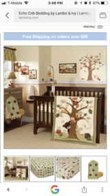 Lambs and Ivy Echo nursery set in Plainfield, Illinois