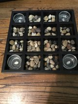Candle and stone tray in Elgin, Illinois