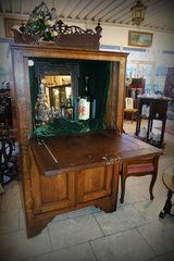 rustic bar cabinet...made of solid oak in Ramstein, Germany