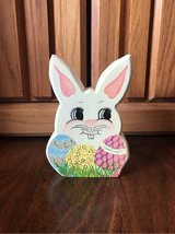 Painted Wood Easter Bunny in Alamogordo, New Mexico
