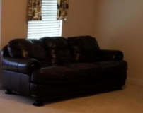 Leather sleeper & matching love seat (dk. brown) in Summerville, South Carolina