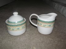 Pfaltzgraff French Quarter patten cream and sugar set in Fort Benning, Georgia