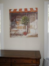 """Canvas Art - Pretty Cafe Scene - Soothing Shades of Orange, Tan, and White -31 in. x 31 """" - Large! in Beaufort, South Carolina"""