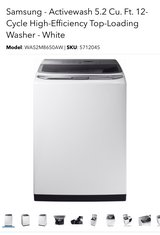 Samsung Washer Brand New Still Packaged in Travis AFB, California