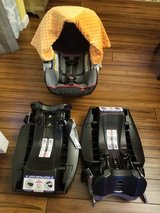 Baby Trend Carseat, 2 Bases, and Canopy in Fort Knox, Kentucky