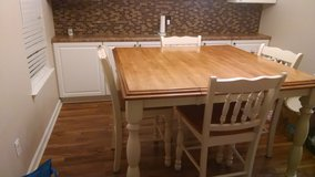 Ashley solid wood Dining room table price reduced!! in Wilmington, North Carolina
