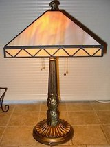 Vintage Slag Glass Table Lamp in Oceanside, California