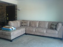 2 Piece L-Shaped Sectional Couch in New Lenox, Illinois