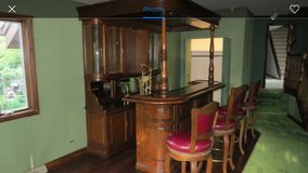 Mahogany Bar with Stools in Westmont, Illinois