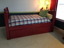 Pottery Barn Kids Red Trundle Day Bed - TWIN in Plainfield, Illinois