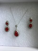 Garnet Necklace and earrings in Lakenheath, UK