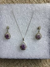 Amethyst Necklace and earrings in Lakenheath, UK
