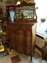 Antique Oak Highboy Dresser in Fort Leonard Wood, Missouri