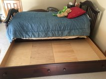 Twin Bed with trundle Drawer  Solid wood with Cherry finish in Tinley Park, Illinois