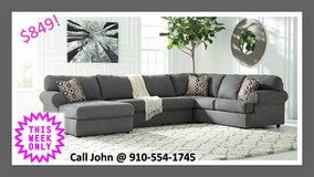 THIS WEEK ONLY!! GREY SECTIONAL!! in Cherry Point, North Carolina