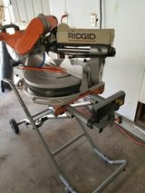 ridgid 12 in double bevel sliding compound miter saw with stand in 29 Palms, California