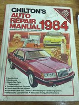 1984 Chilton Auto Repair Manual in Sandwich, Illinois